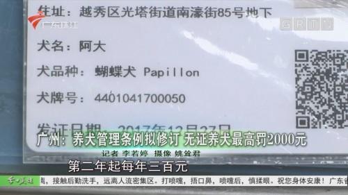 广州:养犬管理条例拟修订 无证养犬最高罚2000元
