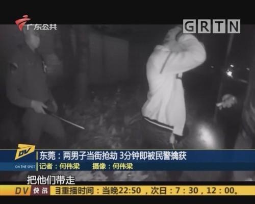 (DV现场)东莞:两男子当街抢劫 3分钟即被民警擒获