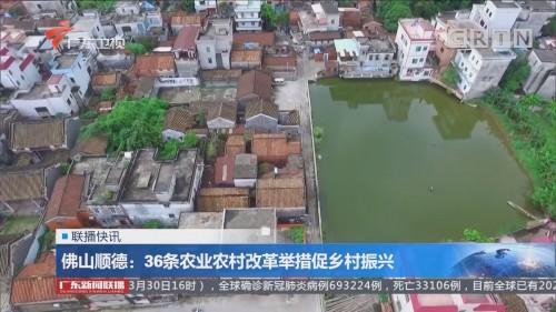 佛山顺德:36条农业农村改革举措促乡村振兴