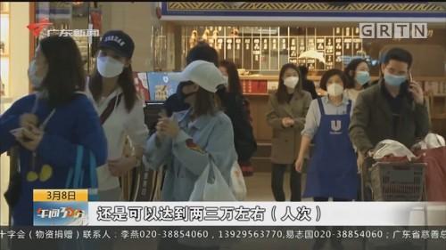 广州 正佳广场:出入口开始启用红外测温仪 -天消毒多次