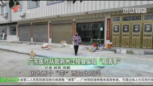 """广东医疗队助荆州江陵县实现""""双清零"""""""