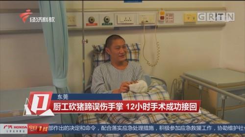 东莞 厨工砍猪蹄误伤手掌 12小时手术成功接回