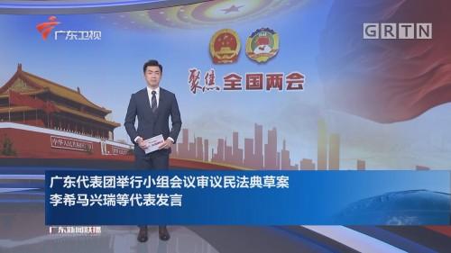 广东代表团举行小组会议审议民法典草案 李希马兴瑞等代表发言