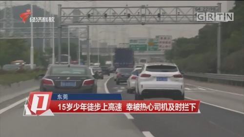 东莞:15岁少年徒步上高速 幸被热心司机及时拦下