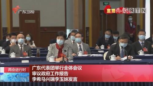 两会进行时 广东代表团举行全体会议 审议政府工作报告 李希马兴瑞李玉妹发言