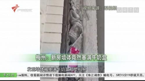 梅州:新房墙体竟然塞满牛奶盒