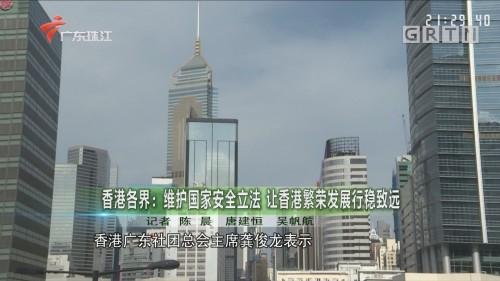 香港各界:维护国家安全立法 让香港繁荣发展行稳致远