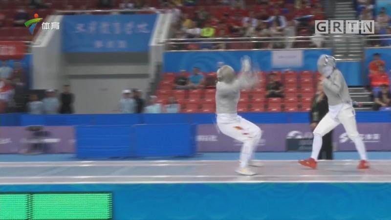 全运会女子佩剑个人广东队梁慧贤夺冠