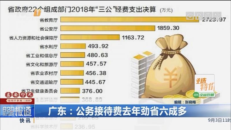 广东:公务接待费去年劲省六成多