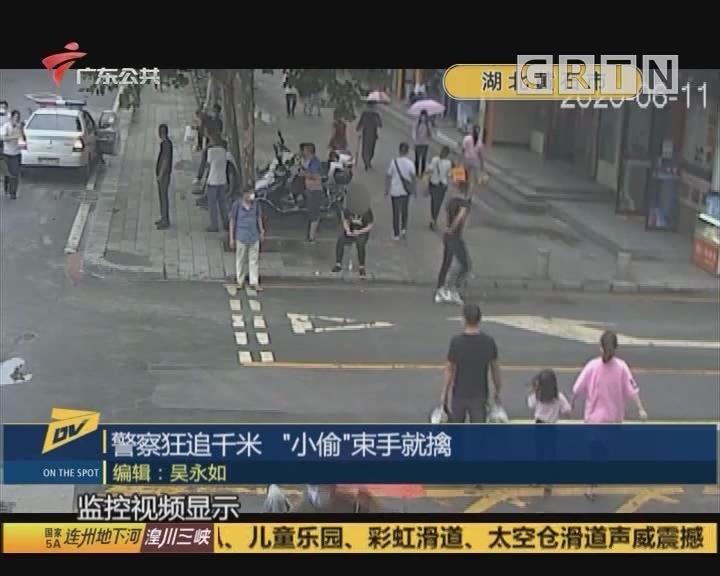 """警察狂追千米 """"小偷""""束手就擒"""