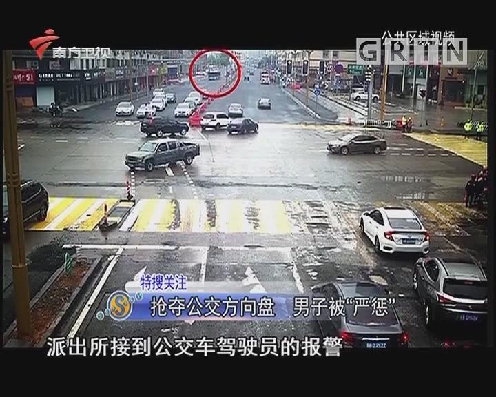 """抢夺公交方向盘 男子被""""严惩"""""""