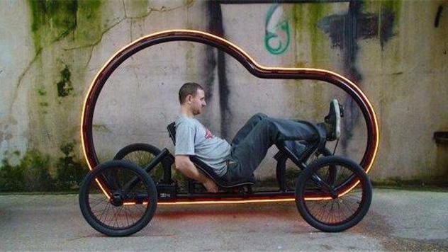 看着就想骑 未来的自行车满满的科技感