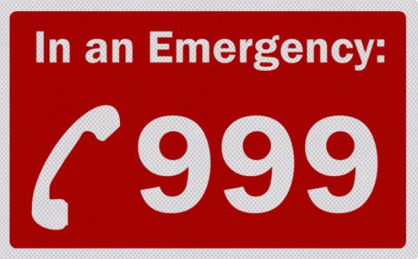 资料图:999是英国紧急报警电话(图片来源网络)