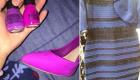 """继""""蓝白裙子""""之后 粉紫色指甲油配鞋再度烧脑"""