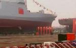我国新型万吨级驱逐舰首舰今日下水