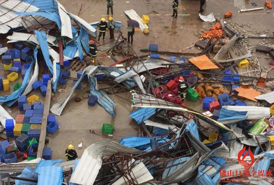 佛山今早遭10级阵风 2人遇难数十人受伤