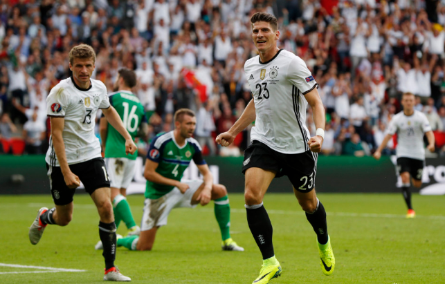 欧洲杯-穆勒2中框+助攻戈麦斯 德国1-0头名出线