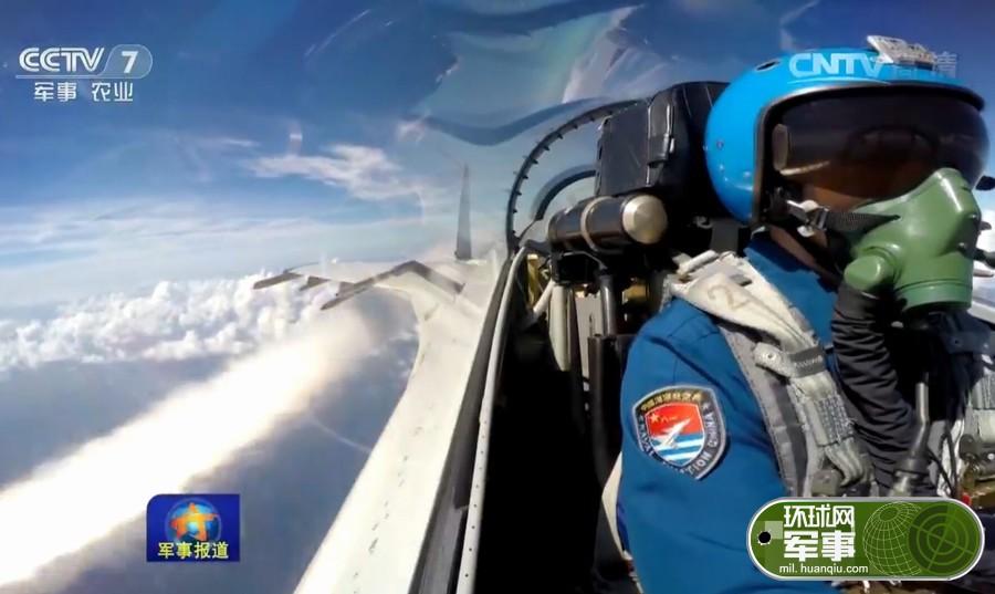 歼11战机在南海演练对海攻击