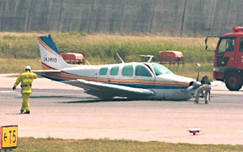 日本航空大学训练飞机机身直接着陆 无人员伤亡