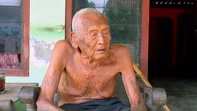 印尼145岁老人称已活够 子女都已去世只剩孙辈