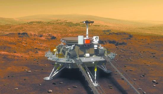 中国首次公布火星探测器外形 预计2020年登陆