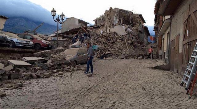 意大利6.0级地震已致159人遇难 3/4个镇子消失