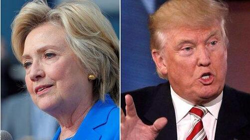 """特朗普与希拉里正面交锋 电视辩论成""""花式闹剧"""""""