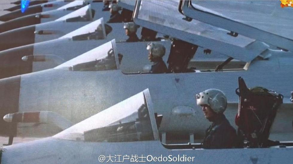组图:这么多好灰机 解放军新型歼10B战机大批现身
