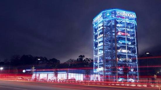 八层楼高!全球最大自动贩卖机投币可买汽车