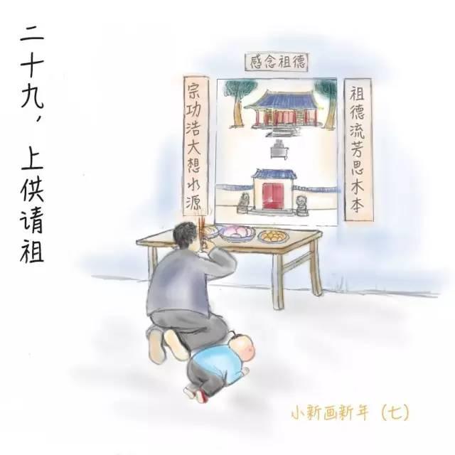 春节年俗:腊月二十九,上供请祖