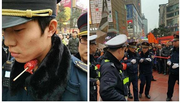 重庆城管执法遭竹签刺喉 45岁女摊贩被刑拘