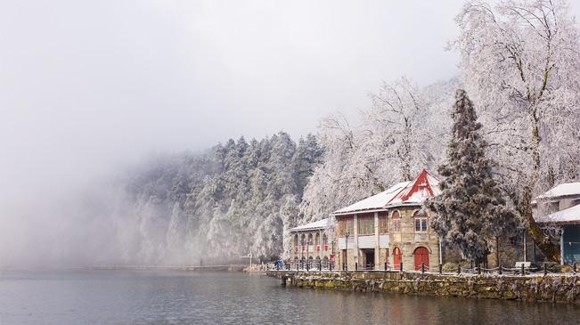 江西庐山降雪游人如织 如梦如幻