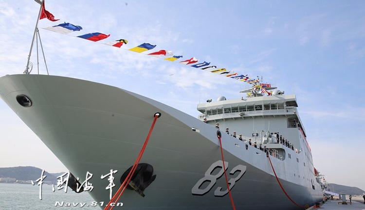 新型训练舰戚继光舰正式加入人民海军战斗序列