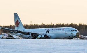 加拿大航空一客机在多伦多着陆时滑出跑道,暂无人员伤亡