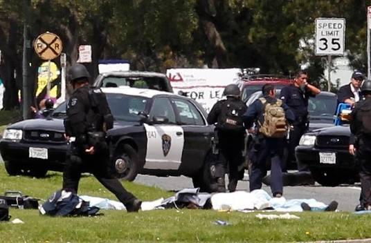 美国22日发生枪击案 造成4人死亡包括1名警察