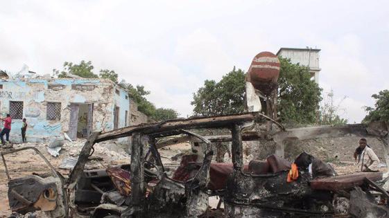 索马里国防部附近发生自杀式汽车爆炸 至少10人死