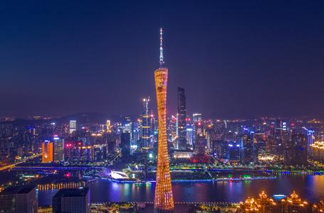 航拍广州璀璨夜景 赏地标之美