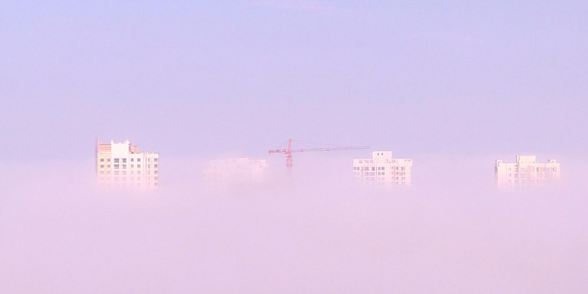 重庆现平流雾美景 犹如童话世界
