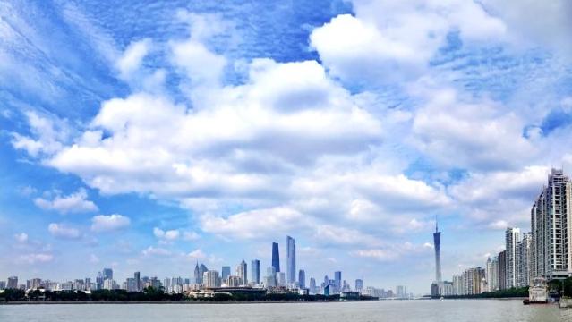 天气晴好 广州开启蓝天模式