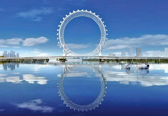 老外惊叹的中国新建筑开放:世界最大无轴摩天轮