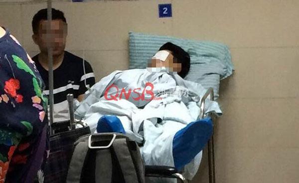 杭州西湖边一架无人机失控,旋翼割破一年轻游客左眼球
