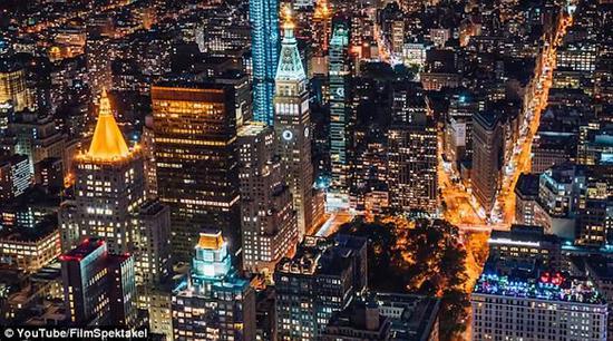 奥地利摄影师用延时摄影纪录纽约美景