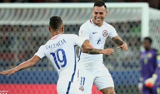 联合会杯-喀麦隆0-2智利 桑切斯助攻比达尔破网