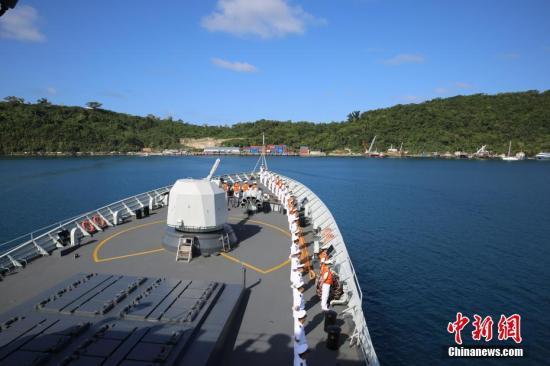 中国海军第二十五批护航编队结束出访任务启程回国