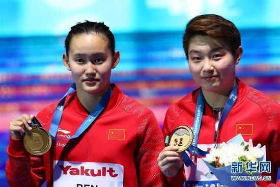 女双十米台中国夺冠 任茜获得世锦赛个人第二金
