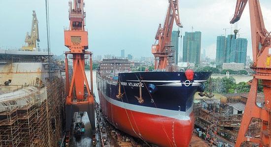 """最后的巨轮!再见,广船荔湾厂区 !广船老厂区首个船台""""退役"""""""