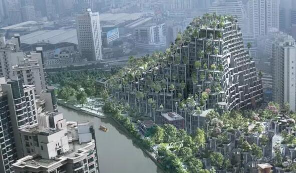 """上海惊现""""古巴比伦空中花园"""" 网友质疑:看着瘆得慌"""