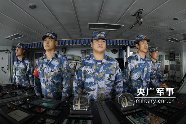 中俄海上联合-2017演习开展非战争条件下科目演练