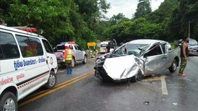 泰国清迈省际公路发生撞车事故 11名中国游客受伤