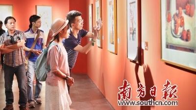 近9000观众争睹广东美术百年大展